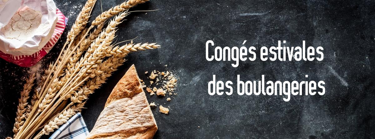 Congés des boulangeries - été 2021